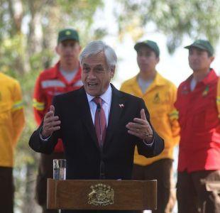 Incendios forestales: Piñera presenta plan y advierte a quienes pretendan quemar nuestros bosques