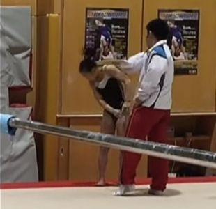 [VIDEO] Registran indignante momento en que entrenador de gimnasia golpea a su alumna
