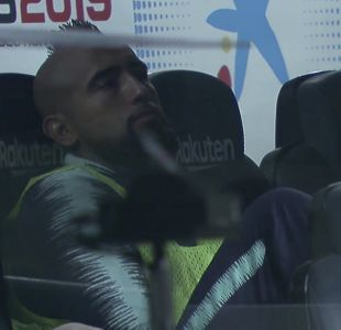 Critican a Arturo Vidal por actitud durante el partido frente al Sevilla