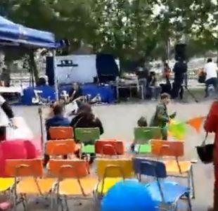 [VIDEO] Disparos obligan a suspender actividad con niños en consultorio de Bajos de Mena
