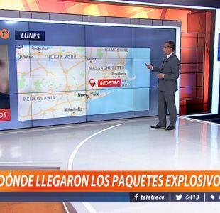 [VIDEO] ¿Dónde se encontraron los paquetes explosivos en Estados Unidos?