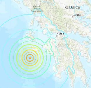 [VIDEO] Reportan primeros daños tras sismo 6,8 Richter en Grecia