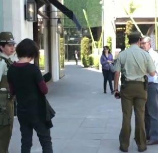 Siete detenidos tras asalto a tienda de lujo en Mall Parque Arauco