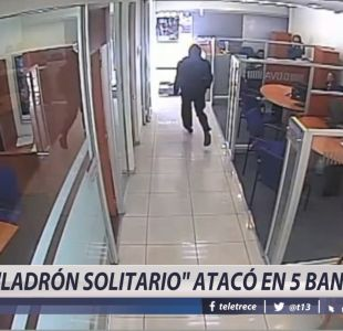 [VIDEO] Ladrón solitario atacó en 5 bancos
