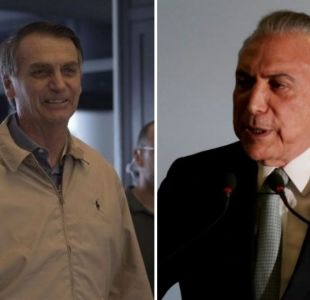 Michel Temer felicita a Jair Bolsonaro por triunfo en elecciones en Brasil
