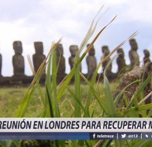 [VIDEO] Reunión en Londres para recuperar moai