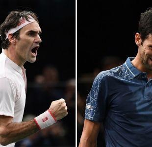 [VIDEO] El increíble punto de Federer que dejó boquiabierto a Djokovic