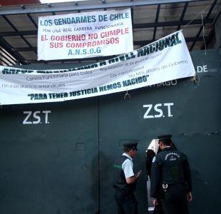 Paro de Gendarmería: Gobierno asegura que las tomas no son la repuesta