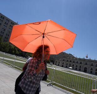 Temperaturas superaron los 34°C este miércoles en Santiago