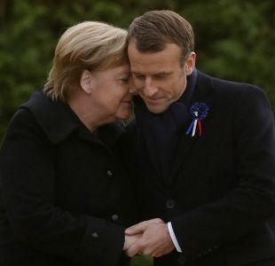 Merkel y Macron se encuentran en donde se puso fin a la Primera Guerra Mundial