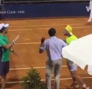 [VIDEO] Te espero afuera: La tensa discusión entre dos tenistas argentinos en torneo en Uruguay