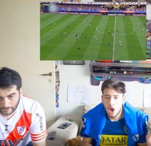 """[VIDEO] Así vivieron """"Los Displicentes"""" la primera final de Copa Libertadores entre Boca y River"""