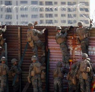 Caravana de migrantes llega a la frontera entre México y Estados Unidos