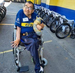 """[VIDEO] Hincha de Boca en situación de discapacidad: """"Cambio la silla por ganar la Libertadores"""""""