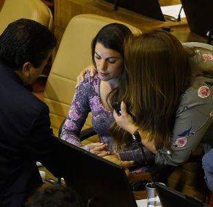 [FOTOS] Maite Orsini sufrió descompensación en la Cámara de Diputados