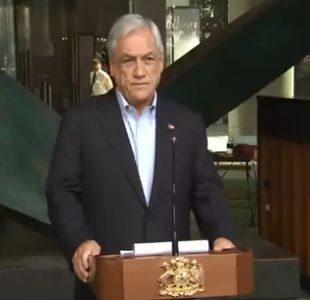[VIDEO] Presidente Piñera condena actos de violencia y ratifica compromiso con Plan Araucanía
