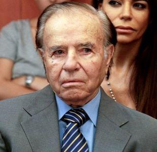 Así fue la visita de Carlos Menem durante la operación de su hijo con Cecilia Bolocco