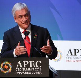 Piñera: Es una oportunidad para pedirle a EE.UU y a China que terminen con la guerra comercial