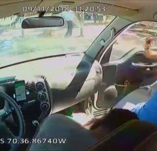 [VIDEO] Trabajadores haitianos frustran asalto a camión de gas en La Pintana