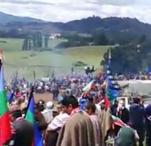 [VIDEO] Masivo funeral de Camilo Catrillanca