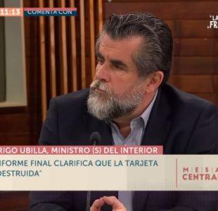 """Rodrigo Ubilla: """"Nadie discute que Carabineros use la fuerza. El tema está en cómo se aplica"""""""