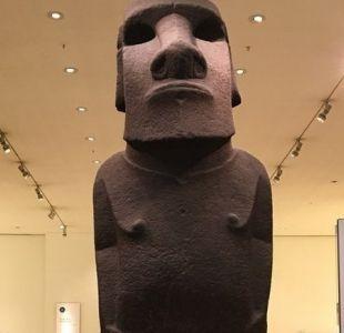 El inusitado encuentro entre habitantes de Isla de Pascua y el Museo Británico por el moai