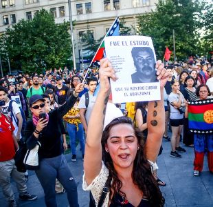 [VIDEO] Incidentes en el centro por manifestación por muerte de Camilo Catrillanca