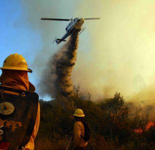 Conaf: Las cinco regiones que tienen alto riesgo de incendios forestales esta semana