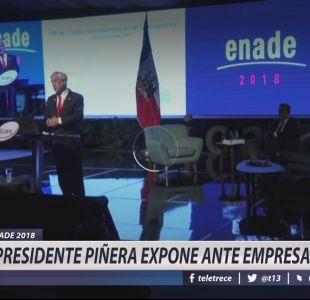 [VIDEO] Piñera en Enade: Estamos conscientes de los problemas en La Araucanía