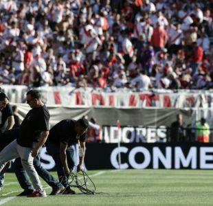 [VIDEO] Incidentes en el Monumental interrumpen entrevista a presidente de River Plate