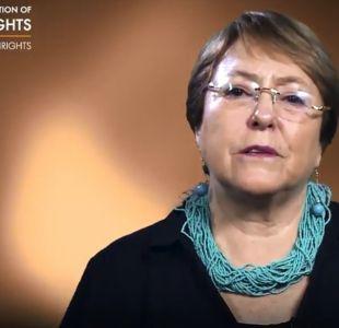 Día contra la violencia a la mujer: Bachelet envía mensaje