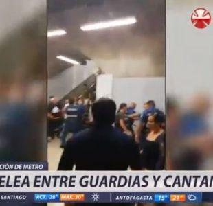 [VIDEO] Violento enfrentamiento con cantantes deja a cinco guardias del Metro lesionados