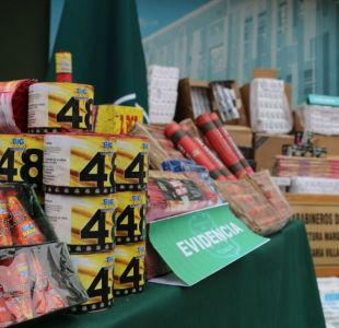 Decomisan cajas de fuegos articiales en Villa Alemana
