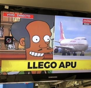 [VIDEO] El facha y la imagen de Apu: La comentada cobertura de un canal argentino a la cumbre G20