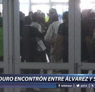 [VIDEO] Así fue el encontrón entre Cristián Álvarez y Marcelo Salas