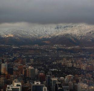 Emiten aviso por precipitaciones de tipo nieve y agua nieve entre Valparaíso y O'Higgins