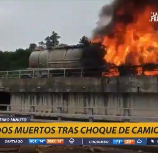 [VIDEO] Dos muertos tras colisión de camiones en Osorno