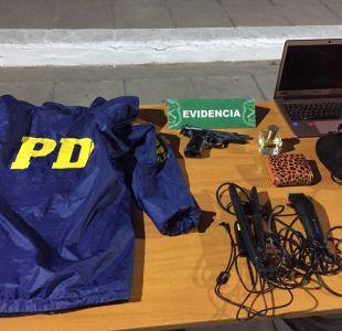 Detienen a delincuentes que se hacían pasar por PDI tras choque automovilístico en San Bernardo