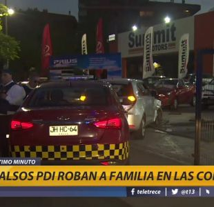 [VIDEO] Falsos PDI roban a familia en Las Condes