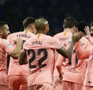 """La reacción de Vidal tras la magistral actuación de Messi frente al Espanyol: """"Es una maravilla"""""""