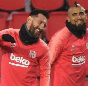 Arturo Vidal viaja a Madrid junto a Messi y Piqué para presenciar la final de la Libertadores