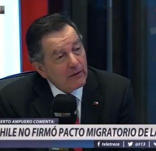 Roberto Ampuero por pacto migratorio ONU