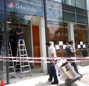 Indagan ataque explosivo a sucursal bancaria en Las Condes