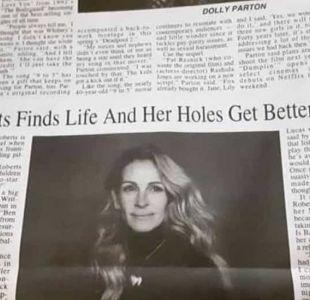Los agujeros de Julia Roberts: el error de un periódico de EE.UU. que produjo bochornoso titular