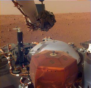 [FOTOS] La primera selfie de la sonda InSight en Marte