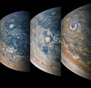 [FOTOS] Nasa revela increibles imágenes de tormentas polares en Jupiter