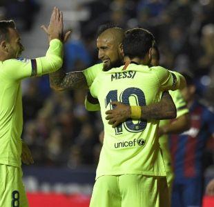 Vidal destaca en goleada del Barcelona con triplete de Messi