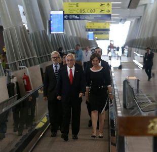 Sebastián Piñera inaugura terminal del aeropuerto de Santiago