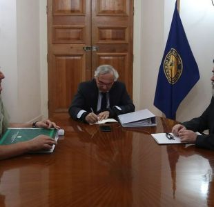 Reunión Chadwick y director general de Carabineros, Mario Rozas