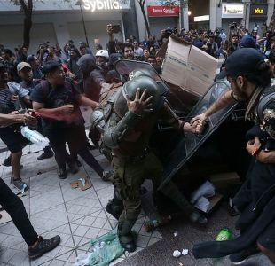 INDH condena las agresiones a carabineros en la manifestación por Camilo Catrillanca
